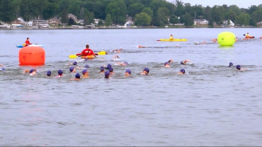 The open water swim