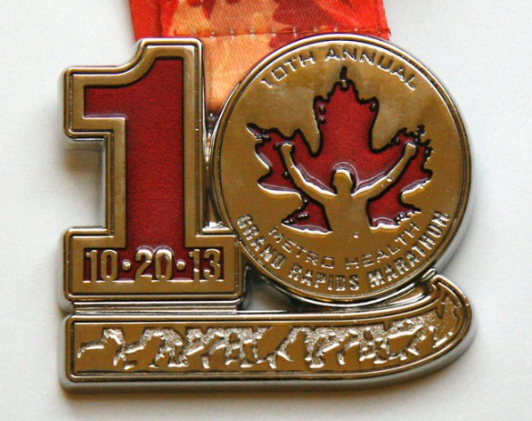 A closer view of the medal