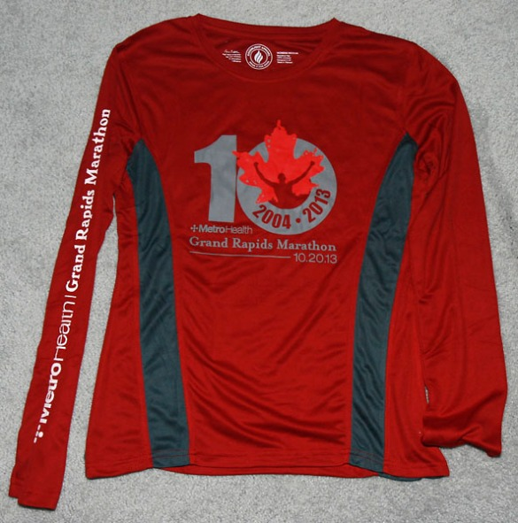 Another photo of the race shirt