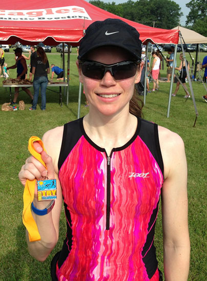 I finished my first real triathlon!