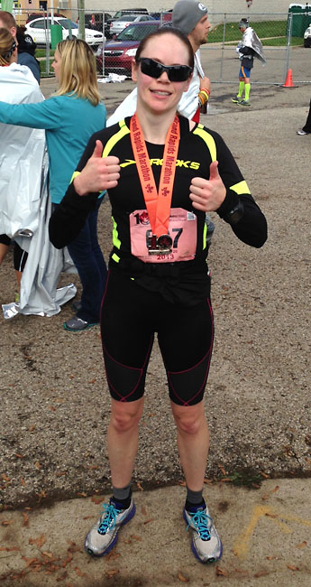 I'm officially a marathoner!