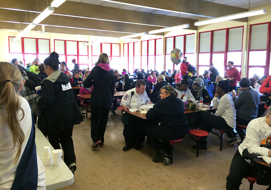 The cafeteria after the race