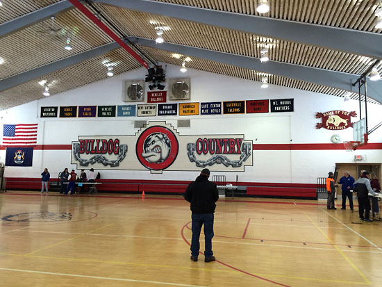 Bentley High School's gym