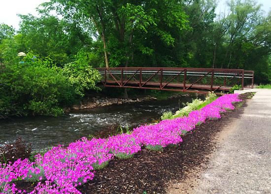 Rochester Municipal Park in Rochester, MI on National Running Day.