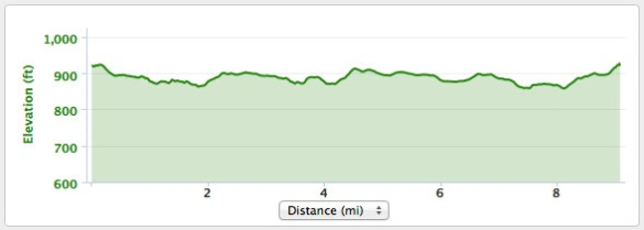 The bike elevation map.