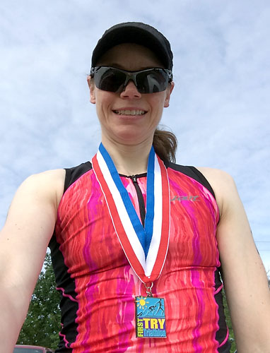 With my medal post-race.