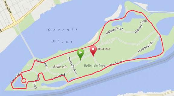 The bike course.