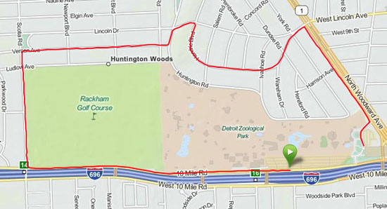 The 5K route.