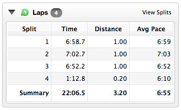My Garmin splits.