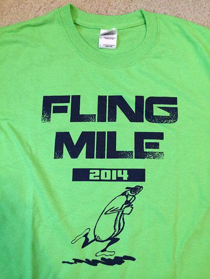 Race t-shirt.