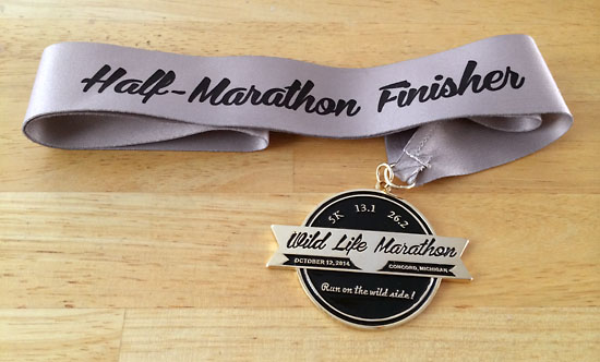 A medal for all of the finishers.