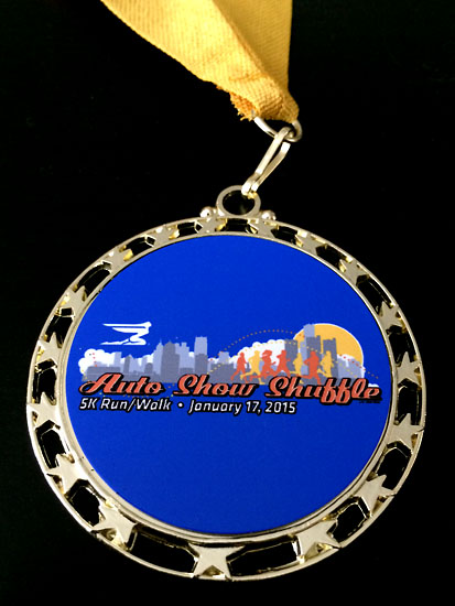 A nice medal for all finishers.