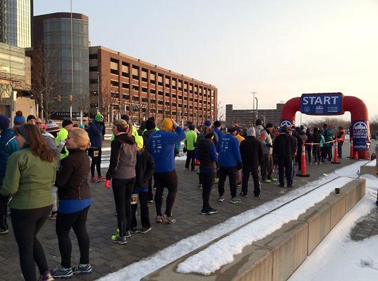 Gathering at the start.
