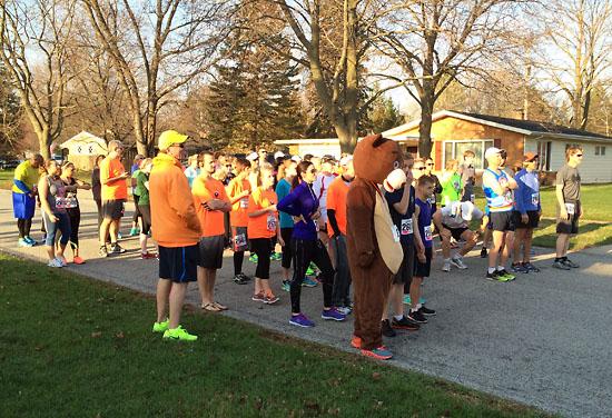 10K runners waiting to start.