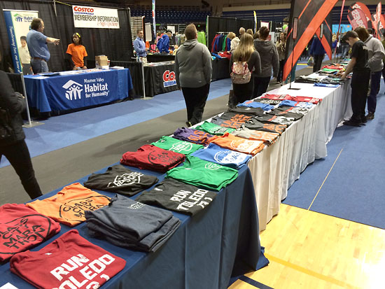 Shirts from Dave's Running at the expo.