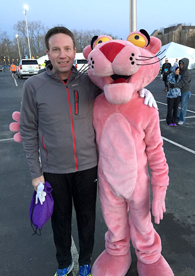 Matt with the Pink Panther.
