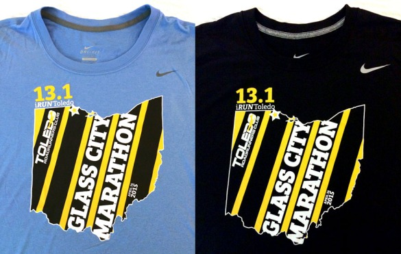 The official race shirts. Different cuts and colors for men and women.