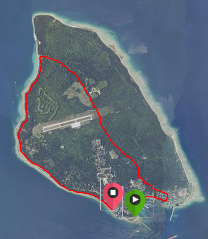 A satellite view of where we ran