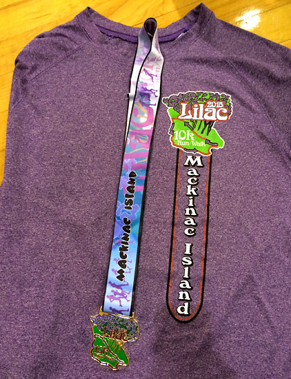 The tech race shirt and medal