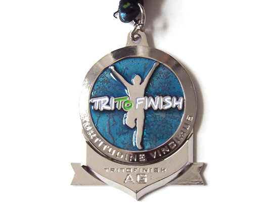 The age group award attached to the medal.