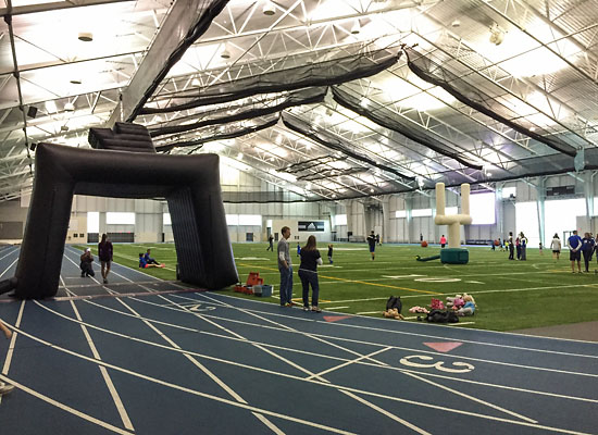 Inside the Kelly Family Sports Center.