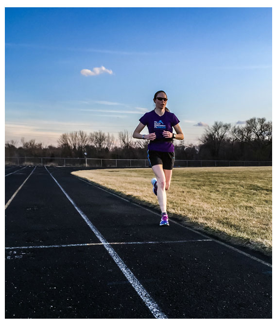 A photo Matt took of me on the track last Tuesday.