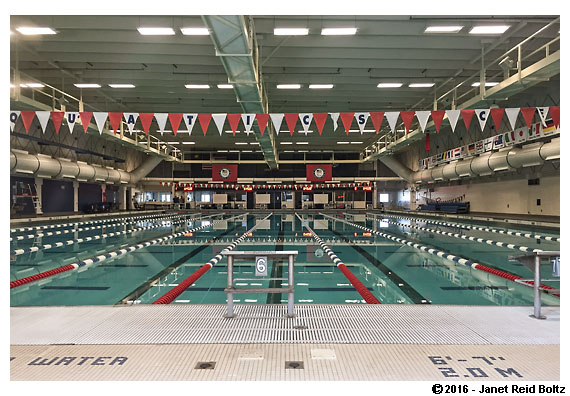 The pool at the Olympic Training Center in Colorado Springs