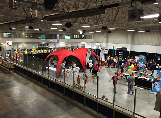 The expo at Wings Event Center