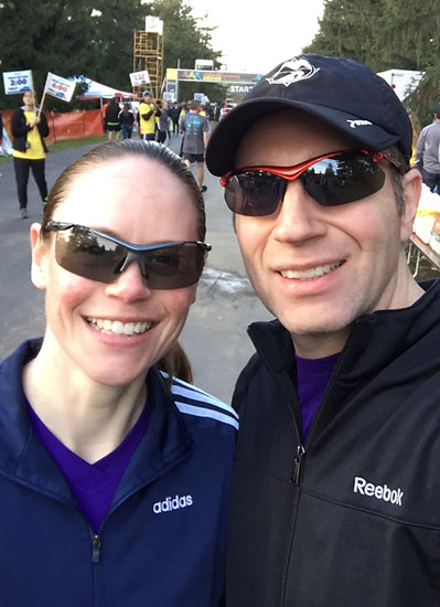 A pre-race photo with Matt, who ran the 10K