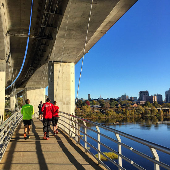 We had a beautiful morning for our shakeout run