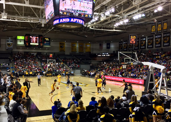 VCU's women playing at Siegel Center