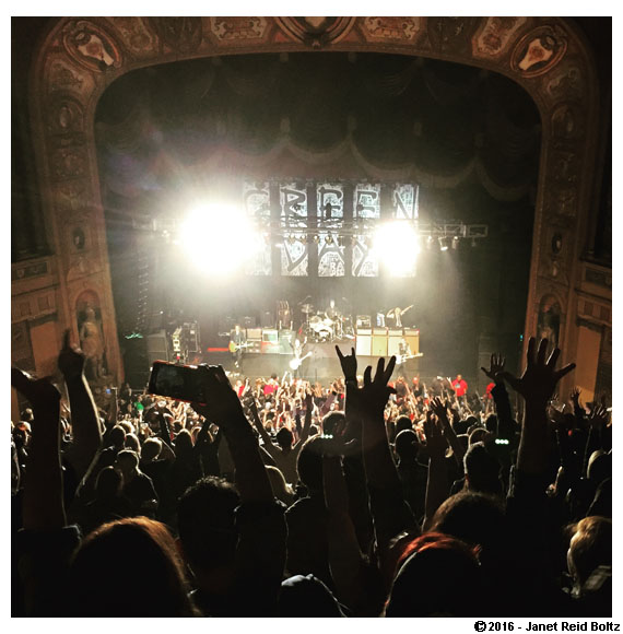 Green Day in a theater (rather than their usual arena setting) was one of many great concerts we caught this year