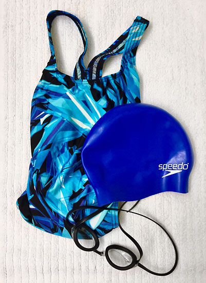 I've traded the running shoes for swim gear recently