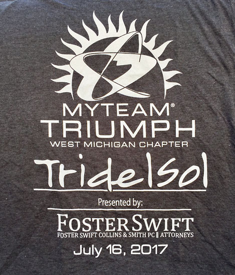 The front of the cotton race t-shirt