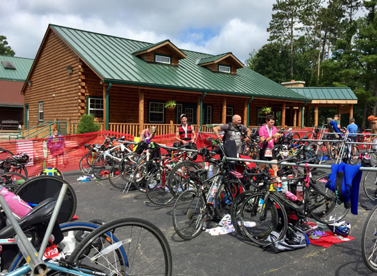 A post-race picture of the transition area