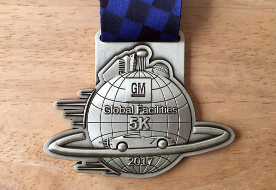 2017-11-04 tech center 5k - medal