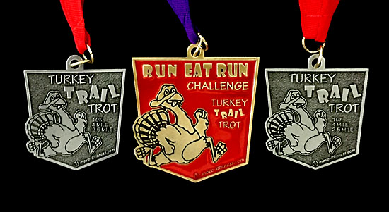 Medals for Thursday's and Friday's races