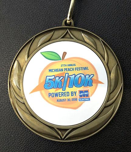 2018-08-30 - romeo peach fest medal