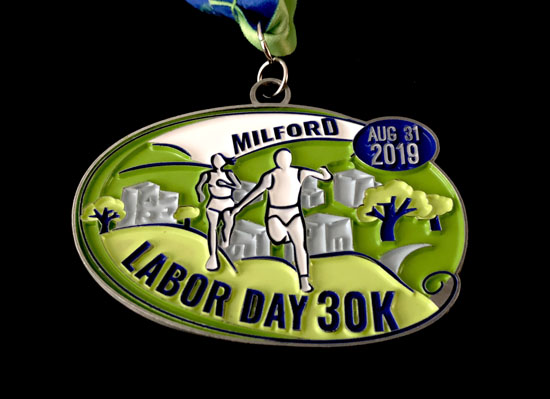 2019-08-31 - milford 30k medal