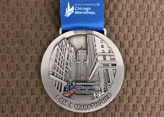 2019-10-13 - chicago marathon medal